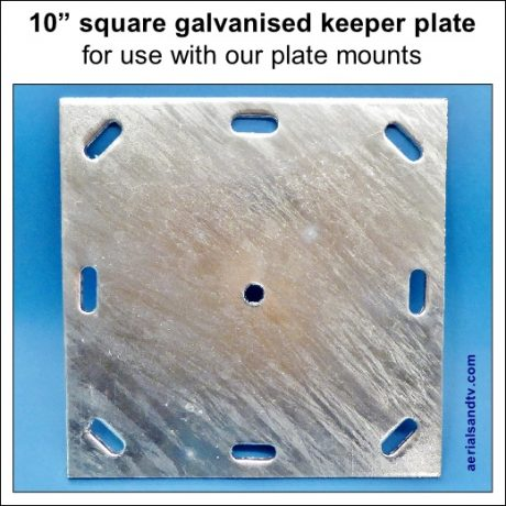 10 inch square keeper plate 520Sq L5
