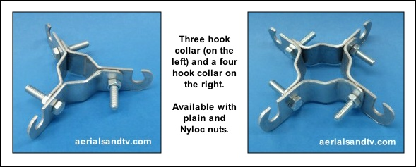 3 and 4 hook collars for stay wire installations 589W L5
