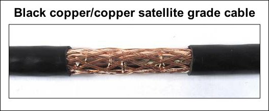 Black copper - copper foam filled satellite grade cable 527W L5