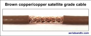 Brown copper - copper foam filled satellite grade cable 527W L5