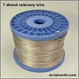 Catenary wire by the drum 50m or 150m 270H L10