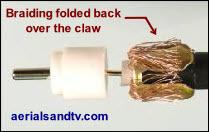 CoAx plug braid over claw 300W L30 4kB