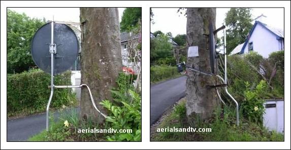 Cranky satellite installation 573W L5