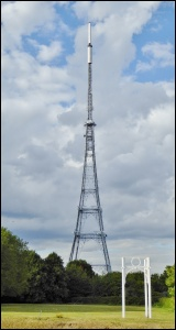 Crystal Palace transmitter with section of original Crystal Palace exhibition hall