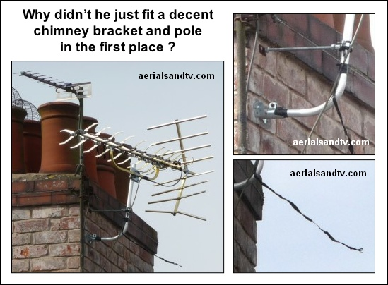 Defending the indefensible aerial chimney installation 549W L5