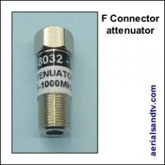 F connector attenuator 250Sq L5