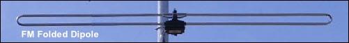 FM folded dipole aerial 501W L5