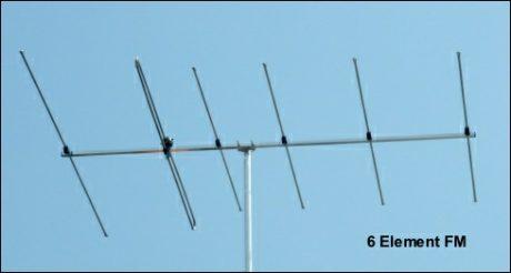 FM six element high gain aerial 489W L5