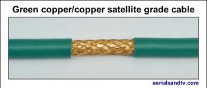 Green copper - copper foam filled satellite grade LSF cable 544W L5
