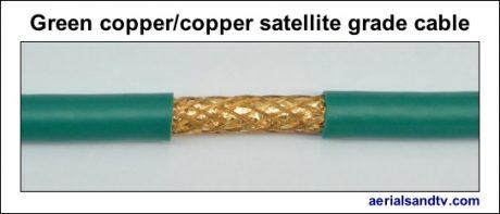 Green copper – copper foam filled satellite grade LSF cable 544W L5