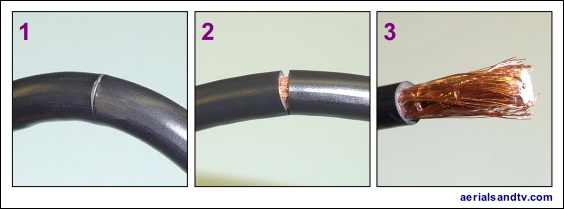 How to strip CoAx cable 1 564W L5