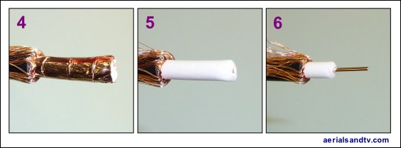 How to strip CoAx cable 2 564W L5