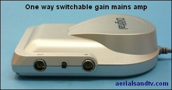 One way switchable gain mains amplifier 351W L5