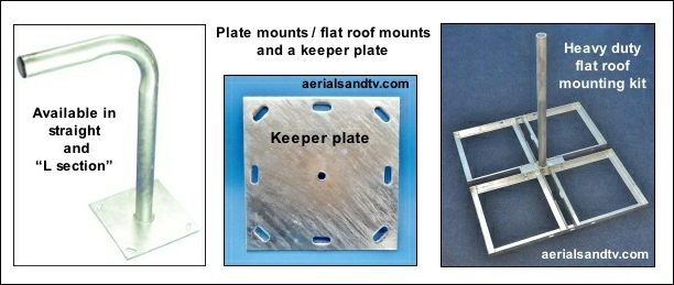 Plate mount flat roof mount and keeper plate 612W L5