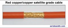 Red copper - copper foam filled satellite grade LSF cable 544W L5