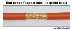 Red copper - copper foam filled satellite grade LSF cable 544W L5