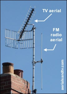 TV and FM aerials labelled 300H L10