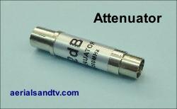 TV signal attenuator 250W L10 9kB