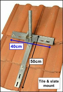 Tile & Slate clamp dimensions L10 300H