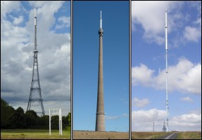 Transmitters Crystal Palace Emley Moor and Winter Hill 291W L5