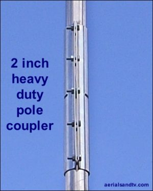Two inch heavy duty pole coupler 2in 465H L5
