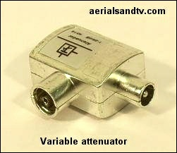 Variable attenuator CoAX 1dB to 25dB 251W L25 6kB