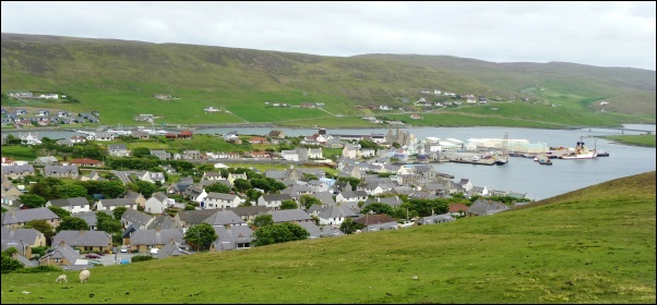 View of Scalloway from the TV transmitter 602W L5