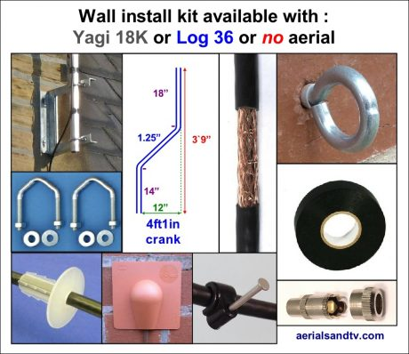 Wall aerial kit with or without the aerial 2 905H L5