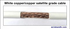 White copper - copper foam filled satellite grade cable 544W L5