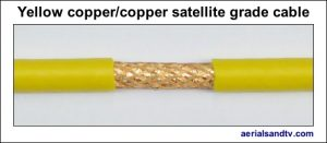 Yellow copper - copper foam filled satellite grade LSF cable 544W L5