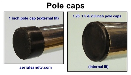 1.0 – 1.25 – 1.5 – 2 inch pole caps 438W L5