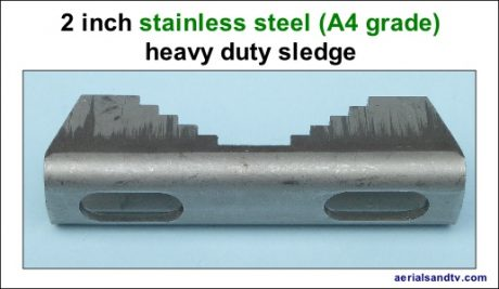 2 inch stainless steel sledge plain 300H L5