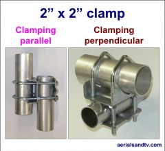 2in x 2in pole clamp perpendicular and parallel 650W L5