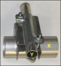 2x1 bracket maximum and minimum pole diameters 201W L5