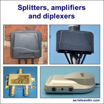 ATV's splitters amplifiers and diplexers 464W L5