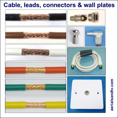 Cable leads connectors and wall plates for sale from 1 ATV 970Sq L5