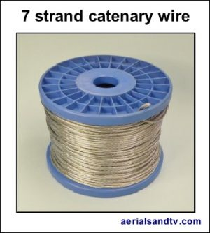 Catenary wire (7 strand) 50m and 150m reels 349H L5