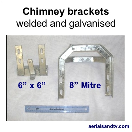 Chimney brackets 6×6 and 8in mitre 420Sq L5