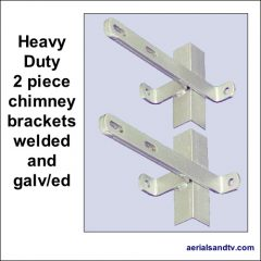 Chimney brackets heavy duty two piece galvanised 500Sq L5