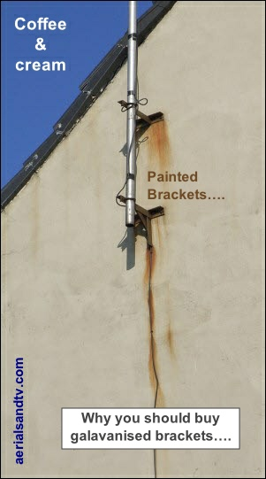 Coffee and cream - or why you should use hot dip galvanised brackets text 301W L10 24kB