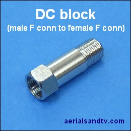 DC block (male F connector to female) 260Sq L5
