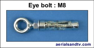 Eye bolt M8 300H L5
