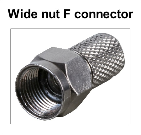 F connector quality wide nut 450W L5