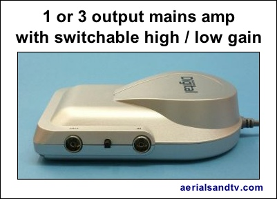 Mains amplifiers 1 or 3 way switchable gain 401W L5