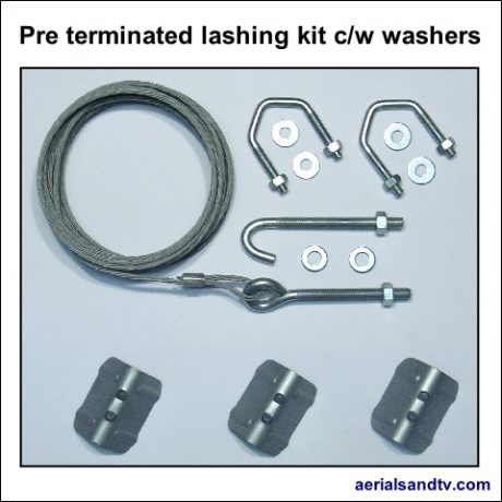 Pre terminated lash kit cw washers 480Sq L5