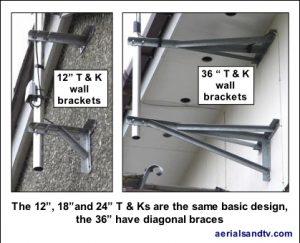 T and K heavy duty wall brackets 419W L5