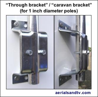 Through bracket caravan bracket for 1 inch poles 333W L5