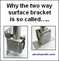 Two way surface bracket 200W L5