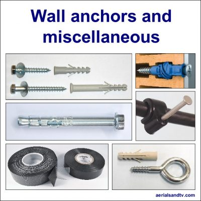 Wall anchors and miscellaneous shop 619Sq L5