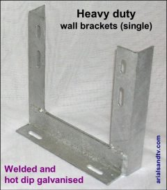 Wall brackets heavy duty single 600H L5